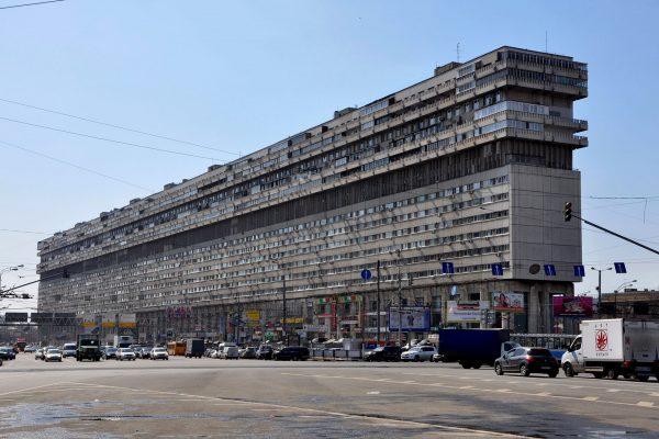 Leżący wieżowiec - ul. Tulska, Moskwa (fot. nieznany)