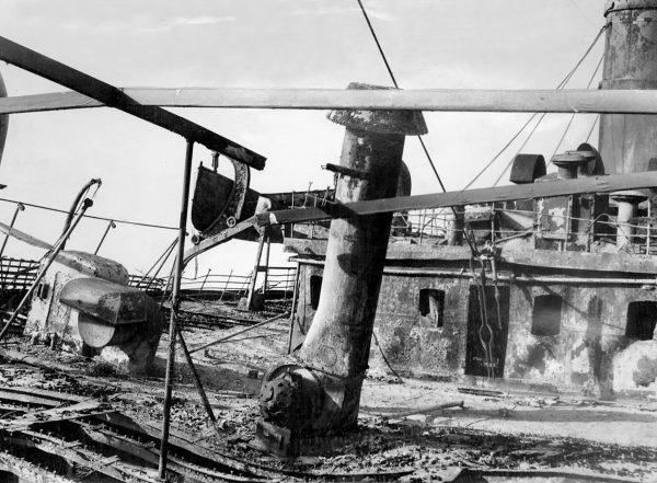 Wypalony pokład SS Morro Castle