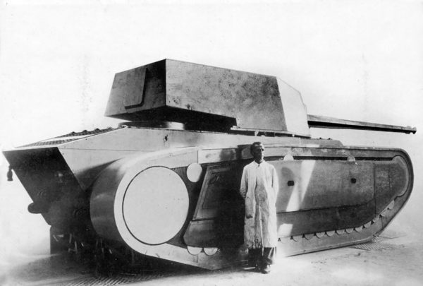 Drewniana makieta czołgu ARL-44