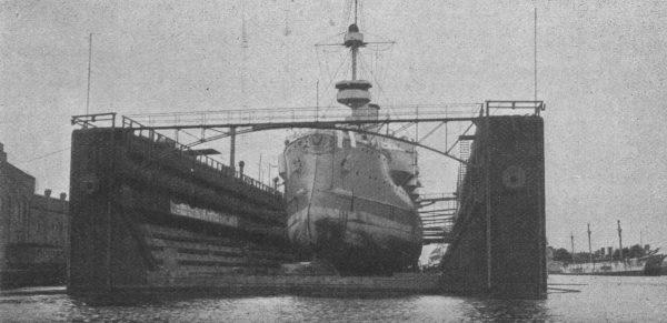 Jeden z pancerników typu Siegfried w doku
