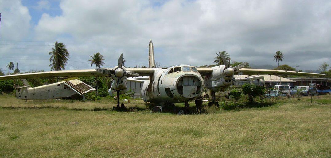 Zapomniane wraki na lotnisku Pearls na Grenadzie
