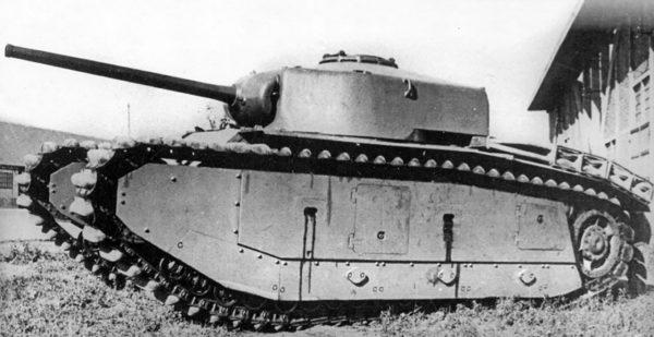 Prototyp czołgu ARL-44 z wieżą z armatą kalibru 75 mm