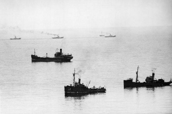 Brytyjskie statki pomagające w ewakuacji