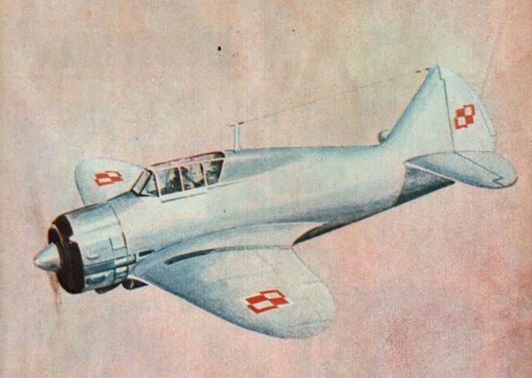 Rysunek (niezbyt dokładny) PZL.50 Jastrząb