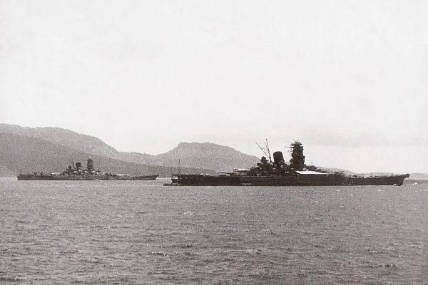 Jedyne zdjęcie przedstawiające pancerniki Yamato i Musashi razem