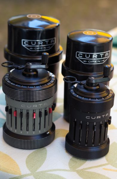 Kalkulator mechaniczny Curta Type II i Type I