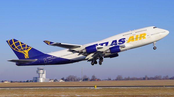 Boeing 747-446 N464MC linii Atlas Air na lotnisku Poznań-Ławica (fot. Michał Furmańczak/Wlkp_Spotters)