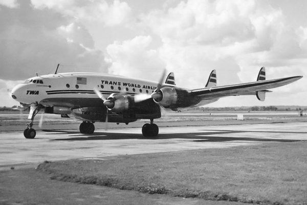 Lockheed Constellation linii TWA z zamontowanym SpeedPackiem