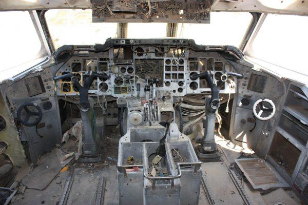 Kokpit Hawker-Siddeley Trident (fot. James Humphreys)