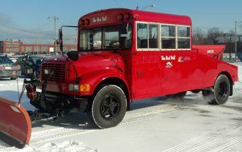 The Red Bull - odśnieżarka z autobusu