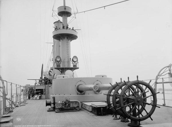Rufowa wieża artylerii głównej USS Brooklyn