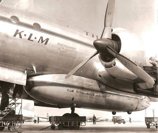 Lockheed Constellation linii KLM z zamontowanym SpeedPackiem