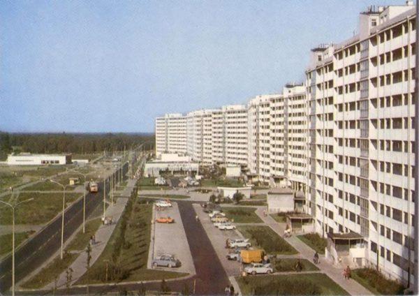Falowiec w Gdańsku na osiedlu Przymorze przy ulicy Obrońców Wybrzeża