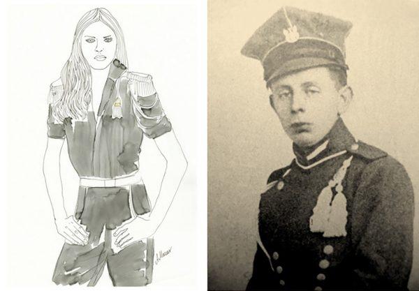 Damska moda inspirowana mundurami Powstańców Wielkopolskich (fot. Agnieszka Mazur)