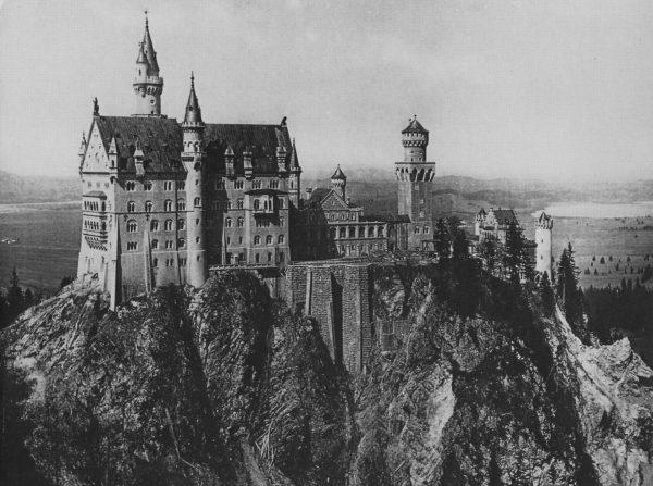 Zamek Neuschwanstein w XIX wieku