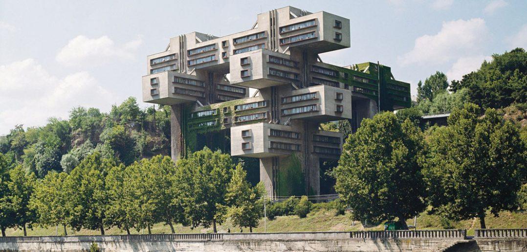 Nietypowa siedziba Banku Gruzji w Tbilisi