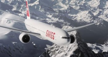 Samoloty Swiss International Air Lines nad Alpami - film