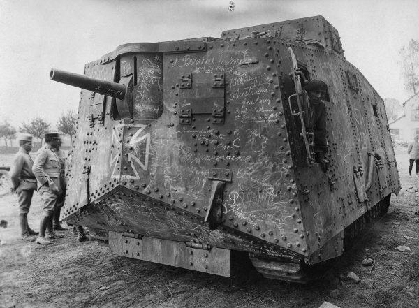 A7V zdobyty przez wojska francuskie