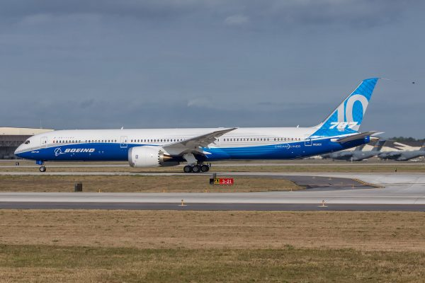 Boeing 787-10 Dreamliner przed pierwszym lotem (fot. Boeing)