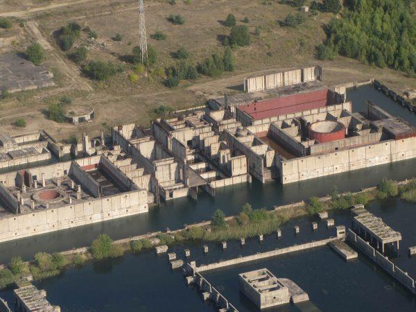 Pozostałości Elektrowni Jądrowej Żarnowiec (fot. mapio.net)