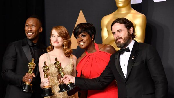 Mahershala Ali, Emma Stone, Viola Davis i Casey Affleck (fot. bbc.com)