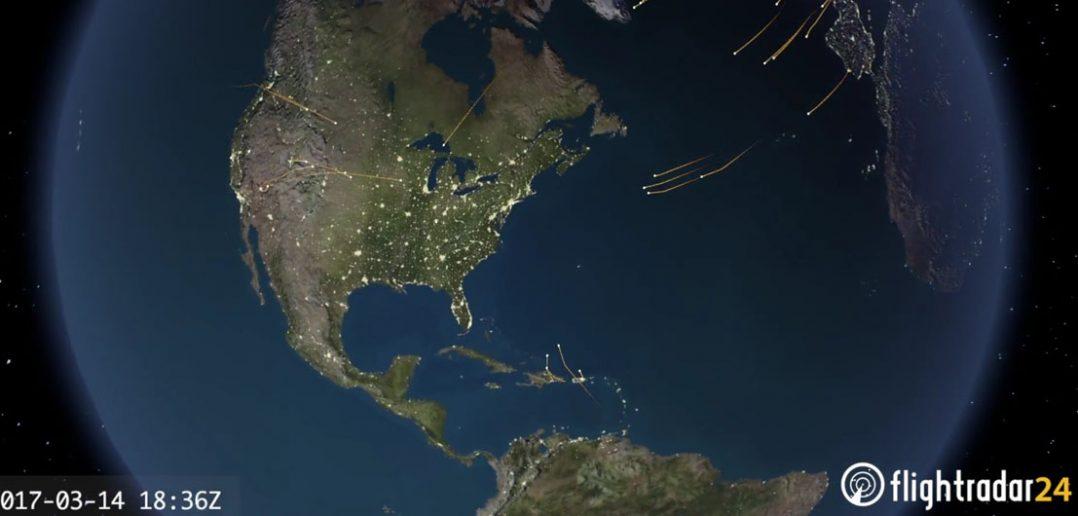 Huragan Stella - oczyszczenie przestrzeni powietrznej nad USA