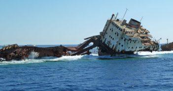 Wrak MV Loullia u wybrzeży Egiptu