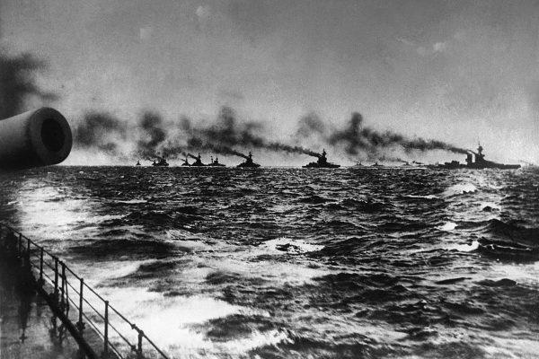 Brytyjska Battle Fleet po wyjściu z Scapa Flow