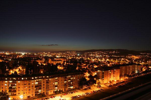 Zagrzeb nocą (fot. pixabay.com)