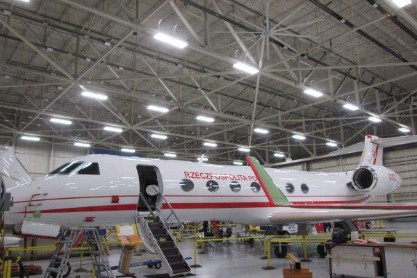 Gulfstream G550 w polskim malowaniu (fot. MON)