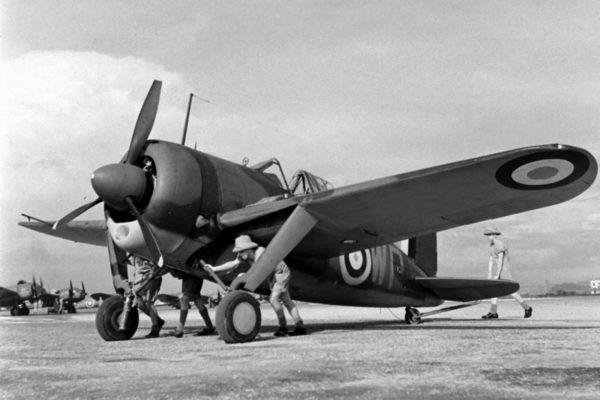 Brewster Buffalo (ten konkretny egzemplarz należał do jednostki RAF stacjonującej w Singapurze)