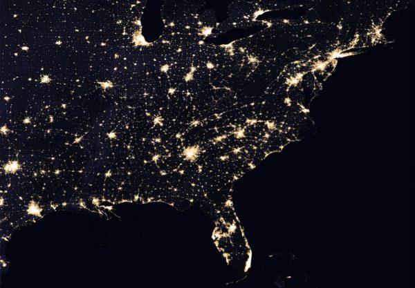 Wschodnie wybrzeże USA (fot. NASA)