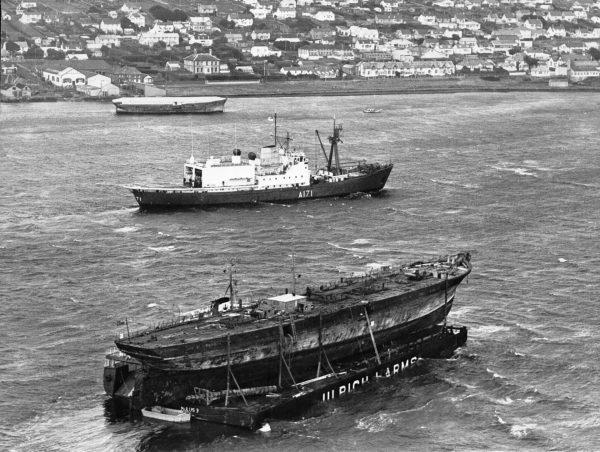 SS Great Britain w drodze z Falklandów do Wielkiej Brytanii w 1970 roku