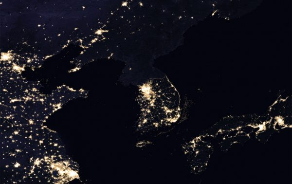 Korea Północna i Korea Południowa (fot. NASA)