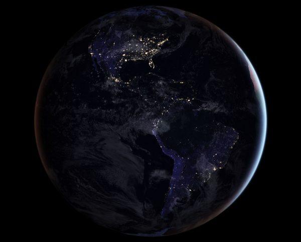 Ameryka Północna i Południowa (fot. NASA)