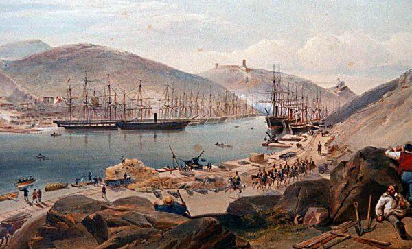 Podczas Wojny Krymskiej żaglowce okazały się całkowicie nieprzydatne w walce z rosyjskimi fortami