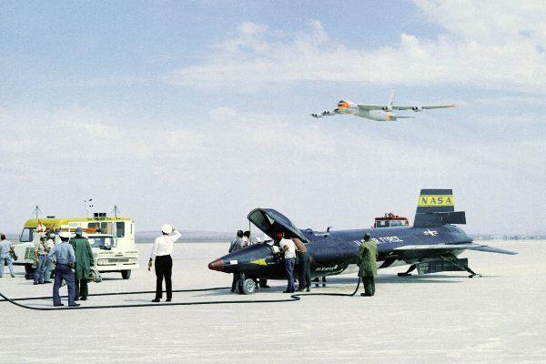 B-52 podczas prób X-15