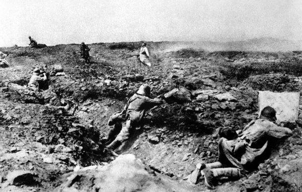Pola walki podczas I wojny światowej były dosłownie zryte pociskami