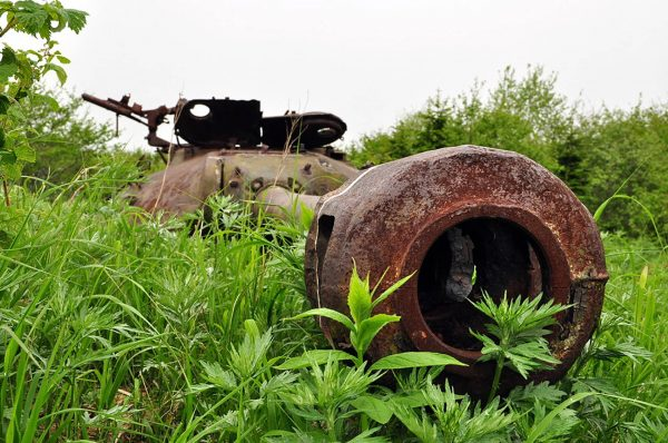 IS-3 na wyspie Szykotan (fot. Yuri Maksimov)