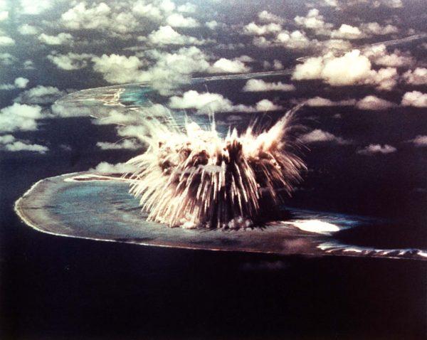 Jedna z prób atomowych przeprowadzonych na atolu Enewetak