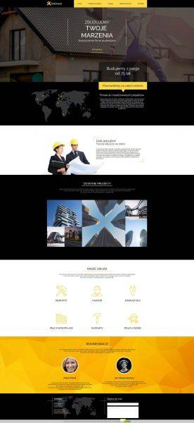 Przykład strony stworzonej w platformie WebWave