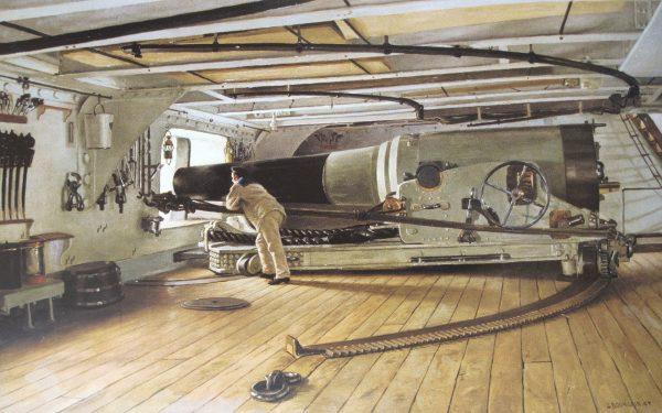 Jedno z dział kalibru 270 mm na pokładzie Colberta lub Tridenta