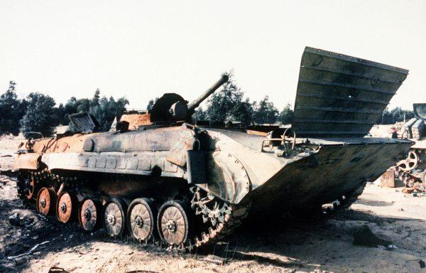 Zniszczony iracki BMP-1 w 1991 roku