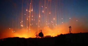 Bombardowanie Rakki pociskami fosforowymi - film