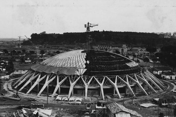 Palazzetto dello Sport podczas budowy