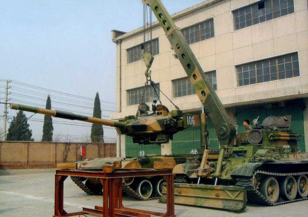 Typ 96A i pojazd inżynieryjny Typ 84