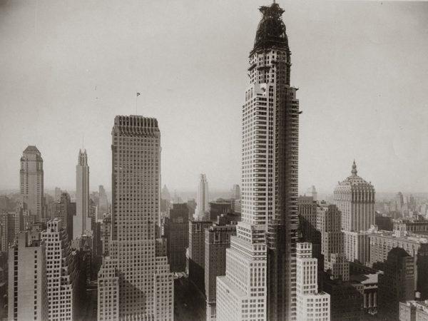 Chrysler Building w trakcie budowy