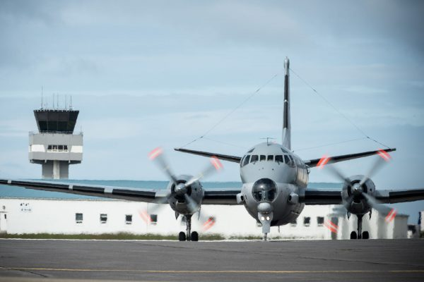 Francuski samolot rozpoznawczy Breguet Atlantic w bazie Kefflavik na Islandii (fot. FRAN CPO Christian Valverde)