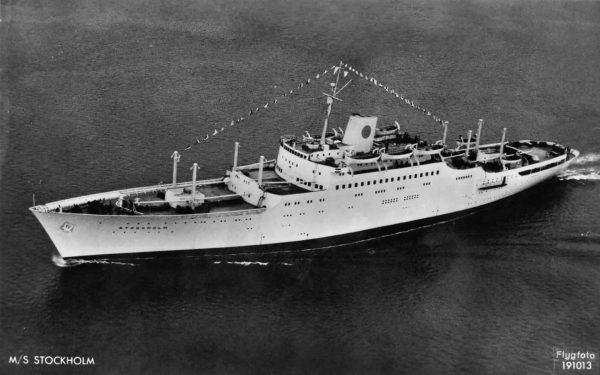 MS Stockholm w pierwotnej konfiguracji
