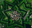 Twierdza Bourtange - piękna twierdza na planie gwiazdy